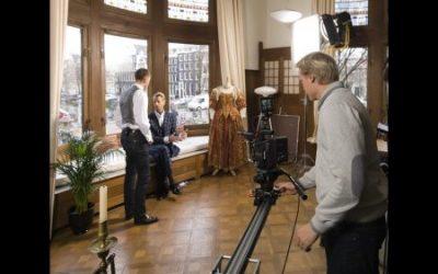 televisieopname in de Hermitage