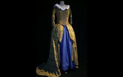 2-delig. jurk et onderrok. 2 helft 17e eeuw